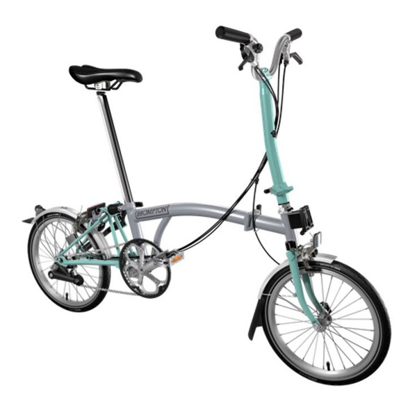 Brompton M6 LD 6-Gang BWR grey/green 2017