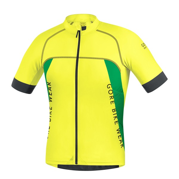 Gore ALP-X Pro Trikot cadmium yellow/fresh green 2016