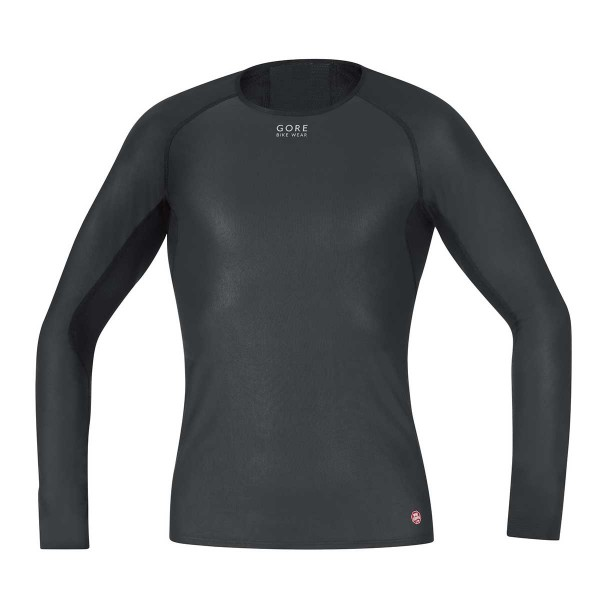 Gore Windstopper Base Layer Shirt Langarm black 20/21
