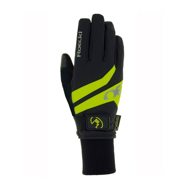 Roeckl Radhandschuh Top Function Rocca GTX black / yellow 18/19