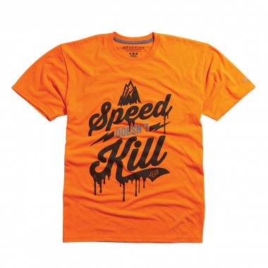 Fox Speed Wobble Tech Tee flo orange 2016