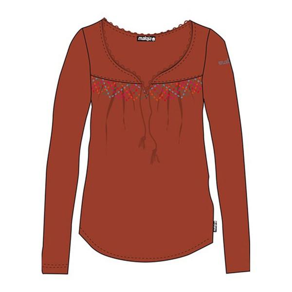 Maloja SavannaM LS Shirt wms rust multi 13/14