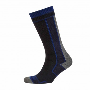 SealSkinz Thin Mid Length Sock blk/gry 15/16