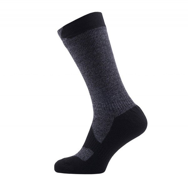 Sealskinz Walking Thin Mid dark grey marl/black, wasserdichte Socken