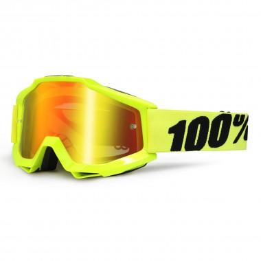 100% Accuri anti fog mirror fluo yellow 2016