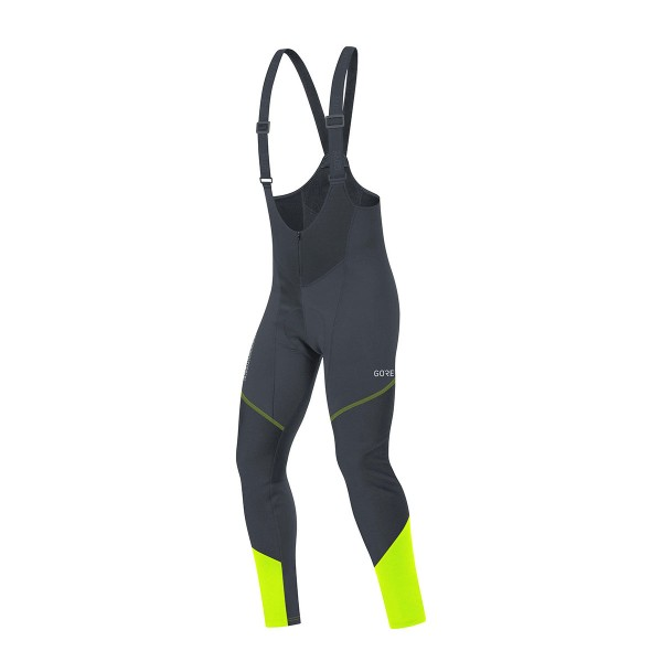 Gore Wear C3 Gore Windstopper Bib Tights+ black / neon yellow 21/22