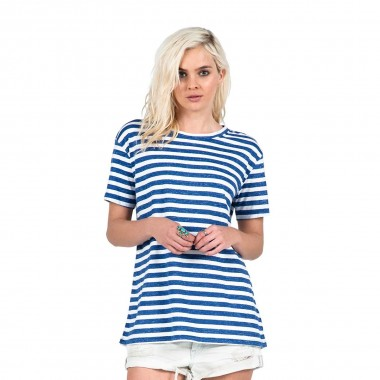 Volcom Stripe Tees Top wms navy 2016