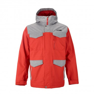 Burton Covert Jacket campfire/htr gray 14/15