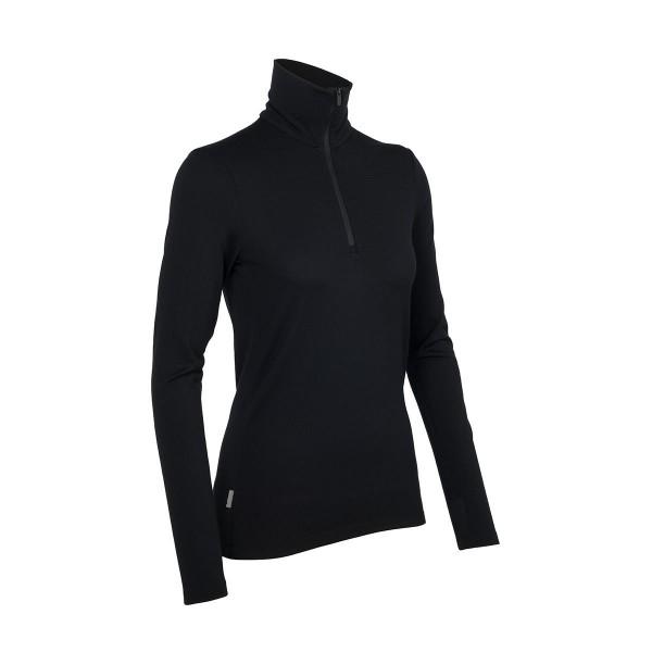 Icebreaker Tech Top Long Sleeve Half Zip wms black 15/16
