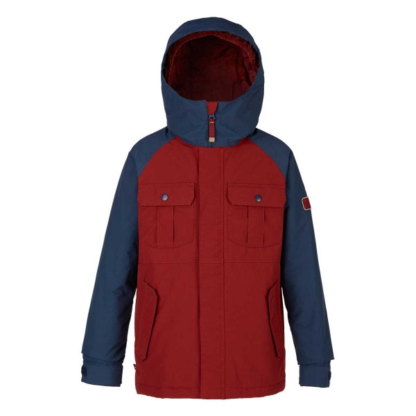 Burton Boys Fray Jacket kids fired brick/mood ingo 17/18