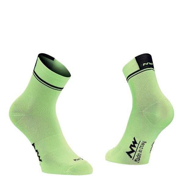 Northwave Logo 2 Sock black / lime 2019