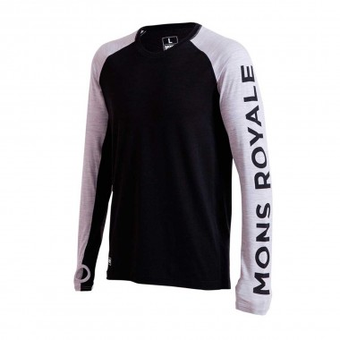 Mons Royale Temple Tech LS black/grey 16/17