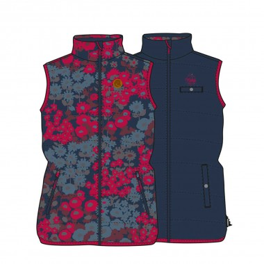 Maloja MeraM. Reversible Primaloft Vest wms fruit tea multi 15/16