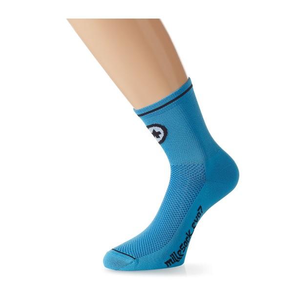 Assos Mille Sock evo7 Doppelpack calypso blue 2017