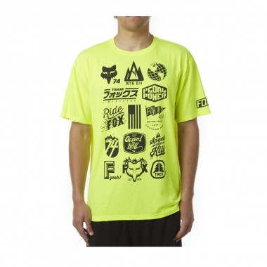 Fox MTN Division Tech Tee flo yellow 2016