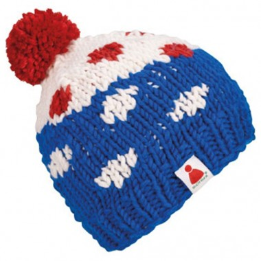 Sionyx Dots Beanie deep blue/white/red 12/13