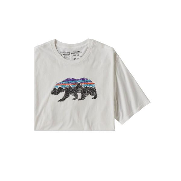 Patagonia Fitz Roy Bear Organic T-Shirt white 2020