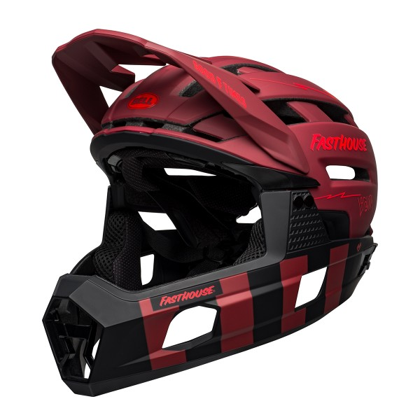 Bell Super Air R Spherical Mips mat red/black fasthouse 2021