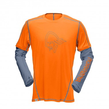 Norrona /29 tech long sleeve Shirt pure orange 2016