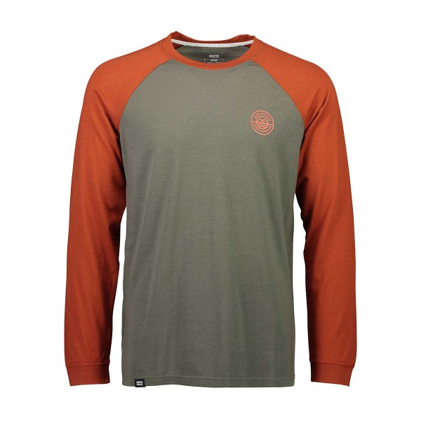 Mons Royale Icon Raglan LS clay/olive 18/19