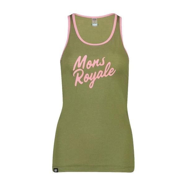 Mons Royale Icon Tank wms khaki rose 2020