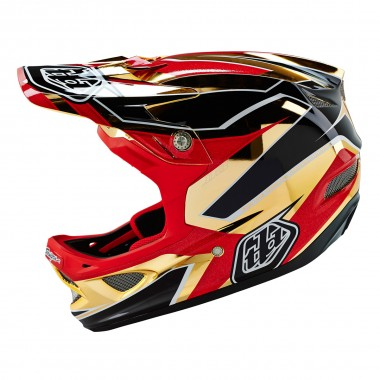 Troy Lee D3 CP reflex gold chrome 2016