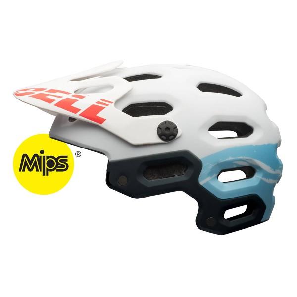 Bell Super 2 Mips wms matt white/glacier blue