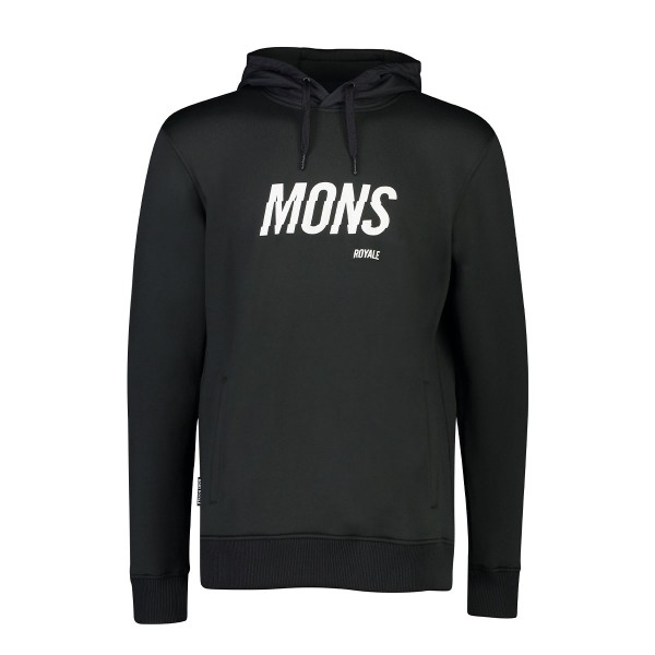 Mons Royale Decade Logo Hoody black 19/20