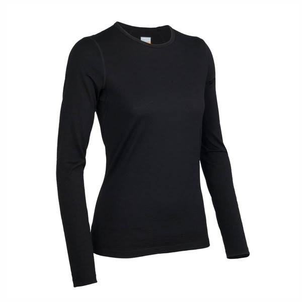 Icebreaker Oasis Long Sleeve Crewe wms black