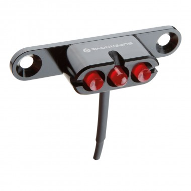 SuperNova E3 Tail Light 2 FR für Gepäckträger black