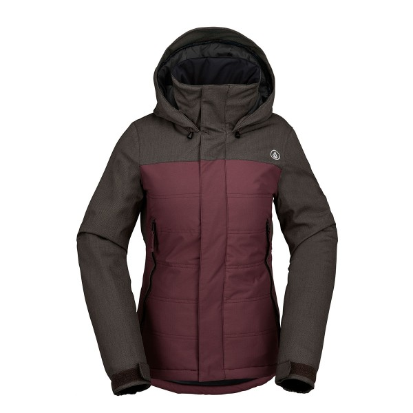 Volcom Vaycay Ins Jacket wms burgundy
