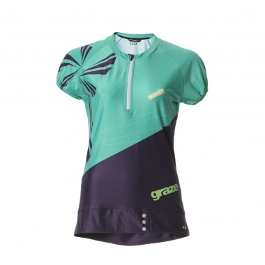 Ion Venta Bike SS Zip Shirt wms mint/grape 2013
