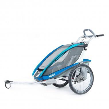 Thule Chariot CX1 mit Fahrradset blau 2016
