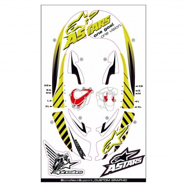 Alpinestars Bionic Neck Support SB-Graphic Kit 2012