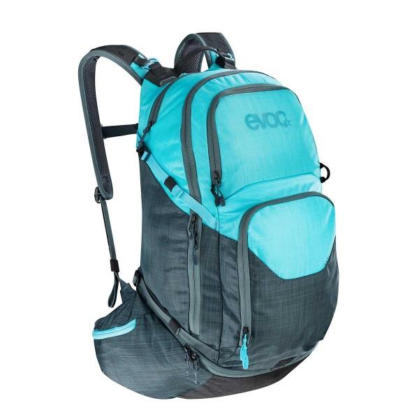 EVOC Explorer Pro 30L heather slate / heather neon blue 2020