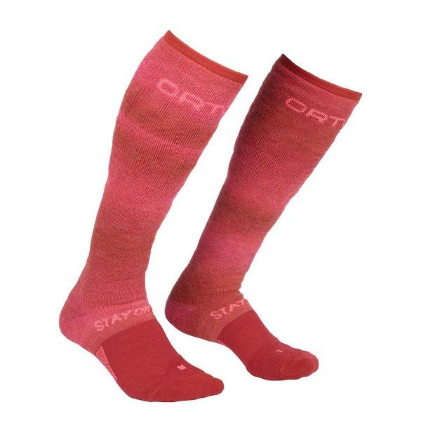 Ortovox Ski Stay or Go Socks wms hot coral 20/21