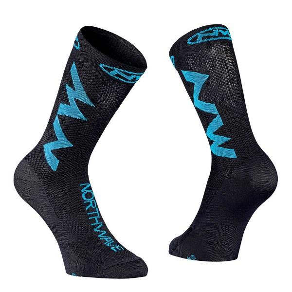 Northwave Extreme Air Sock black / sky blue 2020