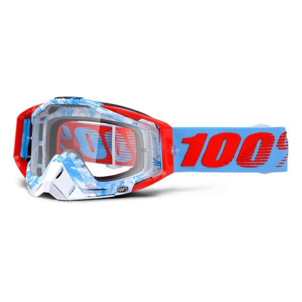100% Racecraft anti fog clear bobora 2016