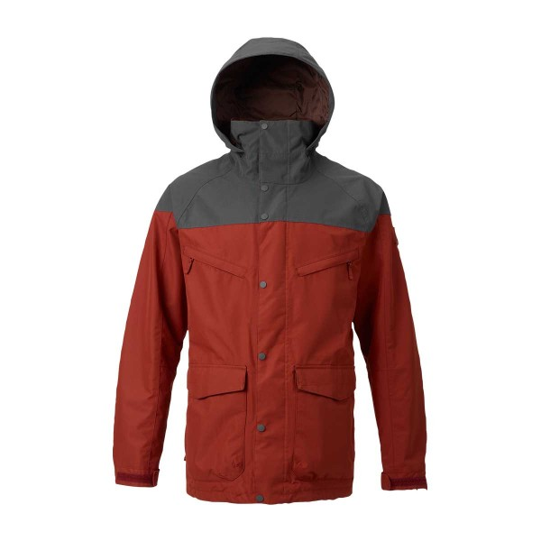 Burton Breach Shell Jacket fired brick/faded