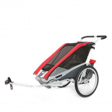 Thule Chariot Cougar 2 mit Fahrradset rot 2016