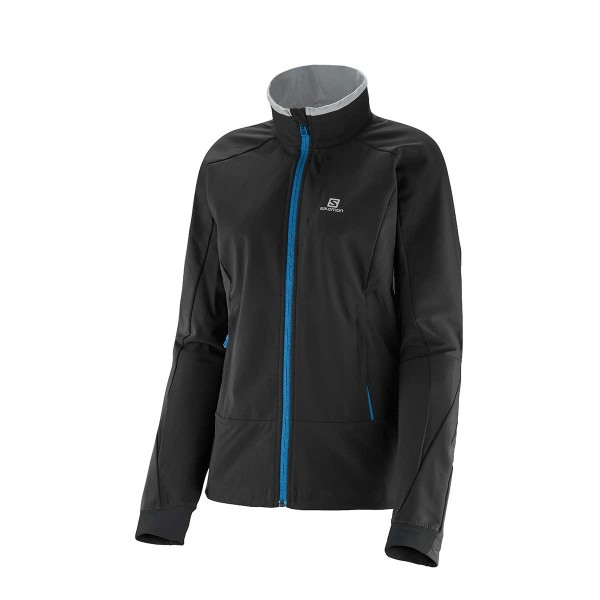 Salomon Momemtum Softshell Jacket black wms 14/15