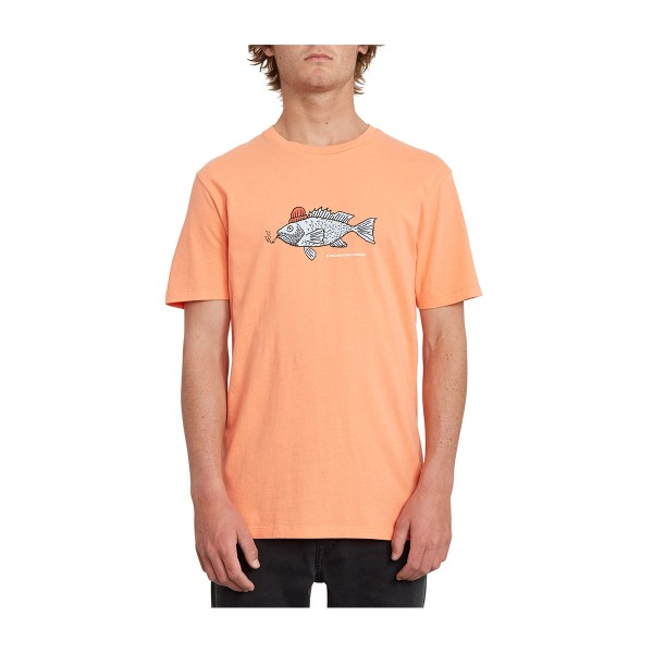 Volcom Trout There LTW SS Tee salmon 2020