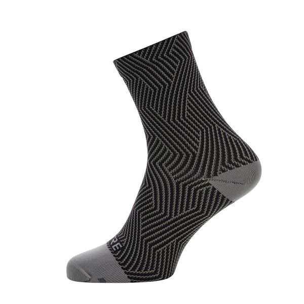 Gore Wear C3 Optiline Socken Mittellang grey/black 2020