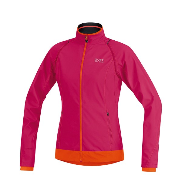 Gore Element Windstopper Active Shell Zip-Off Lady Jacke pink / orange 2015