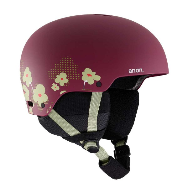 Anon Rime 3 kids flower maroon 19/20