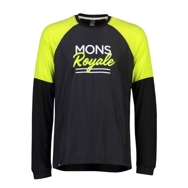 Mons Royale Tarn Freeride LS Wind Jersey black / lime 2020