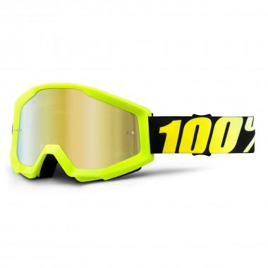 100% Strata anti fog clear neon yellow 2016