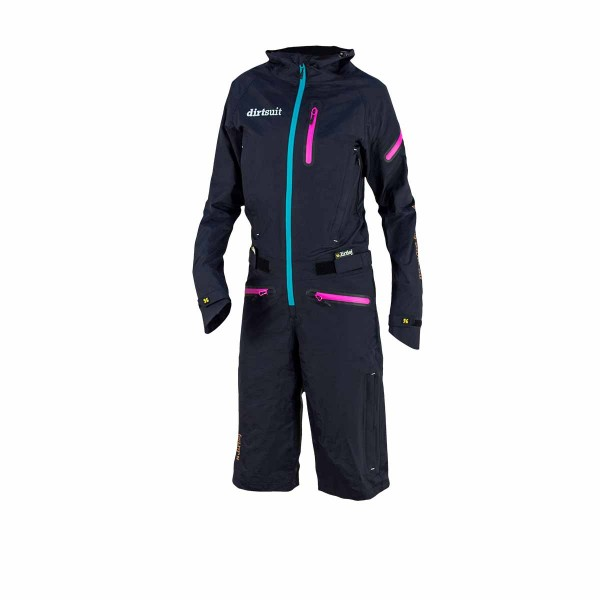 Dirtlej Dirtsuit Pro Edition wms black azure / turquoise 2021