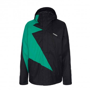 Zimtstern Flash Snow Jacket blk/emerald 14/15