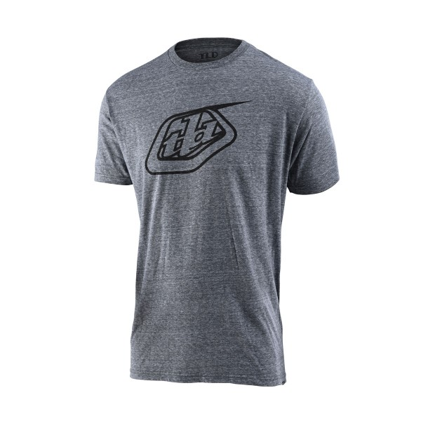 Troy Lee Logo Tee vintage grey snow 2020